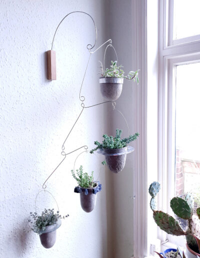 Balanced-Earth wall-mounted plant mobile
