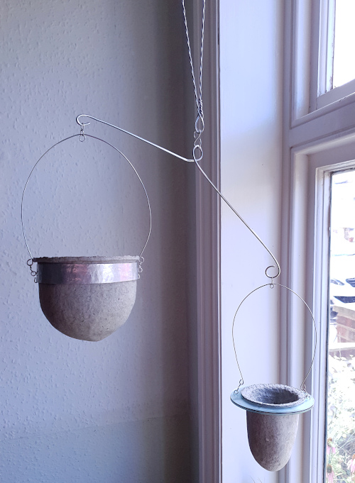 Suspended pulp vessels for succulents by Balanced-Earth