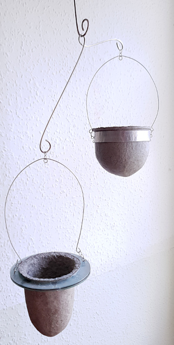 Suspended vessels for succulents by Balanced-Earth