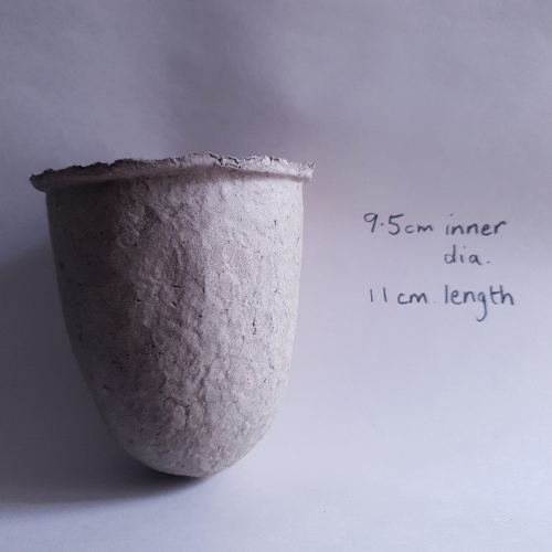 Recycled paper pulp vessel by Balanced-Earth for succulents