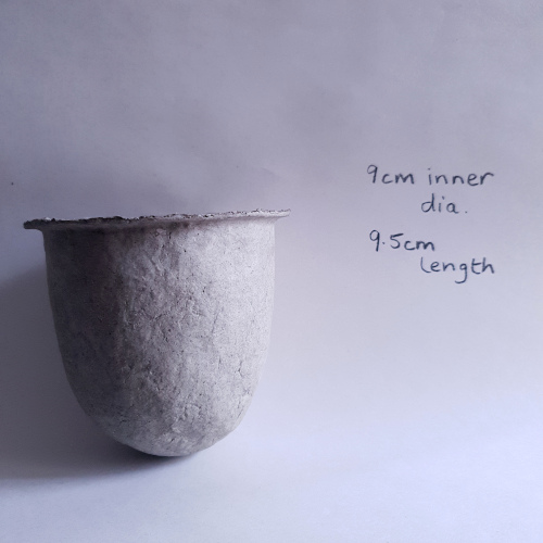 Recycled newsprint paper pulp vessel by Balanced-Earth