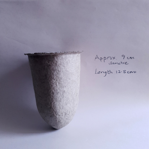 Handmade newsprint paper pulp vessel by Balanced-Earth