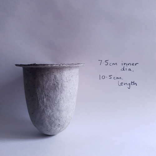 Handmade newsprint pulp succulent vessel by Balanced-Earth