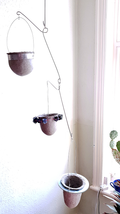 Suspended plant-mobile for succulents by Balanced-Earth