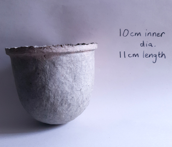 Recycled paper pulp vessel to hold succulent plants from Balanced-Earth