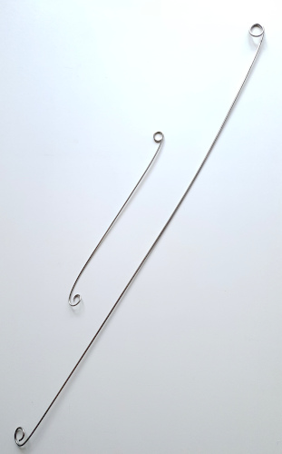 Stainless steel rods with hooks and each end to suspend plant mobile from Balanced-Earth