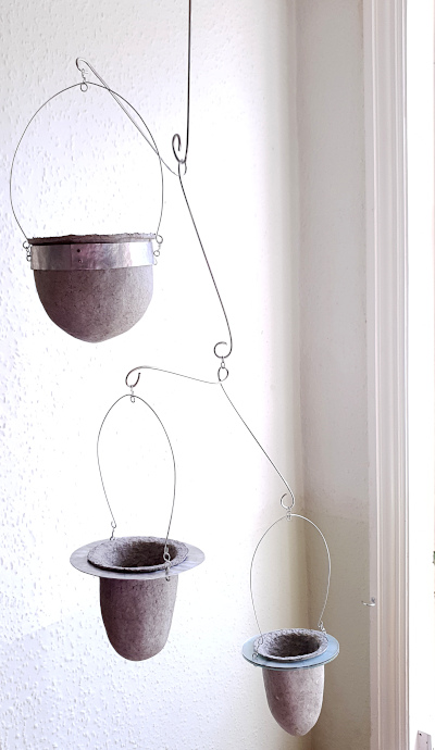 Suspended trailing succulents pulp vessels by Balanced-Earth