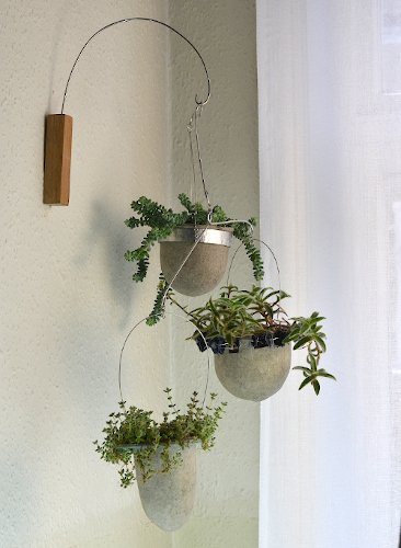Linnet plant-mobile with trailing succulents